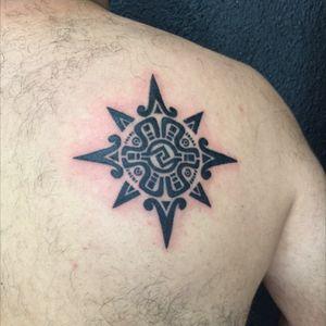 #aztec #aztectattoos #blackink #Intenzetattooink #tattoo #backtattoo #zuperblack #tattoolife #mexican #tattoolife #tattooartist #tattoodo