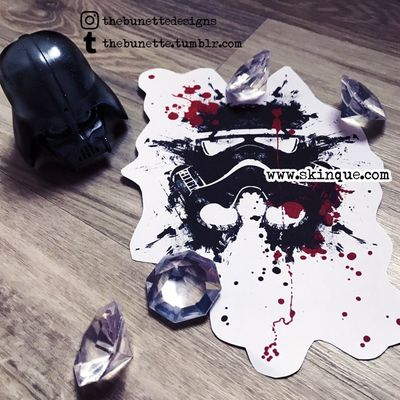 For commissions and more designs www.skinque.com✨ #trashpolka #stormtrooper #starwars #abstract #illustration #drawing