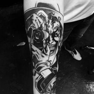 Work in progress #joker #thekillingjoke #tattoosbyrodrigocanteras #lovehatenewyork #batman #camera #thejoker