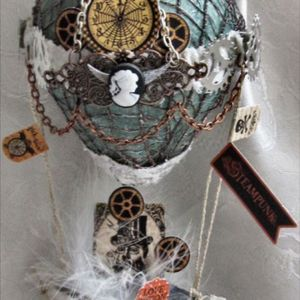 Vintage hotair balloon #megandreamtattoo
