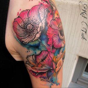 #flowers #poppies #poppy #color #watercolor #keltaittattoo @kel.tait.tattoo #welove