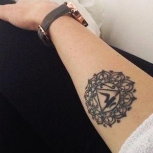 #chakra #manipura #tattoo #forearm #womentattoo