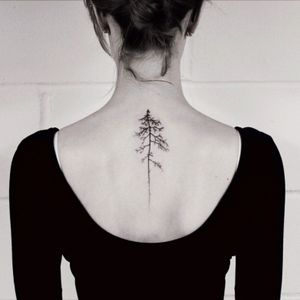 Delicate hand poked tattoo by Oliver Whiting #tree #handpoked #oliverwhiting #beautiful #delicate