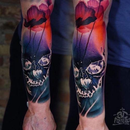 #skull#flowers