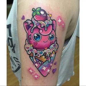 Jigglypuff ice cream tattoo #pokemon #icecream #cute
