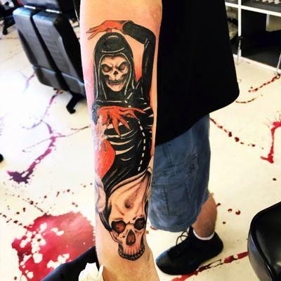 #reaper #girlreaper #skull #skulltattoo #skulls