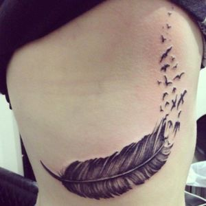 My very first tattoo #first #feathertattoo #birds