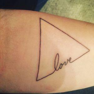 Gay pride tattoo
