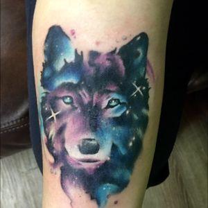 Galaxy wolf done in Kamloops, BC at Psychocity