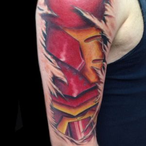 Tattoo by PeeWee Sinerco. #peewee #peeweesinerco #sinerco #westbury #tat #tats #tatts #tatted #tattoo #tattoos #tattedup #tattoist #tattooed  #tattoooftheday #usa #ink #inked #inkedup #ink #tattoooftheday #art #amazingink #longisland #larktattoo #larktattoos #larktattoowestbury #bodyart #colortattoo #ironman #ironmantattoo #superhero #superherotattoo #tattoosleeve