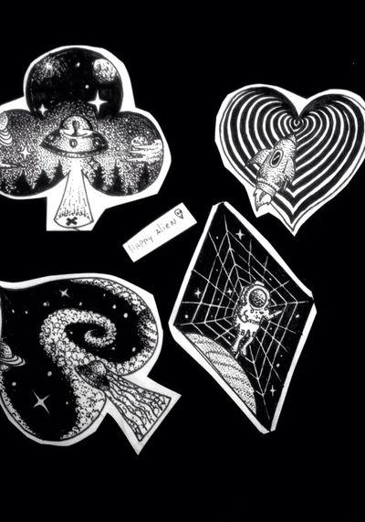 Cards #space #galaxy #galaxia #espacio #ufo #stars #estrellas #planeta #jupiter #saturno #planet #cosmo #cosmic #tattoo #ink #inkñofe #tattoolige #tatuaje #art #arte #artlife #blackandwhite #blancoynegro #draw #dibujo #happyalientattoo #detail #work #happy #dotwork #love #cards