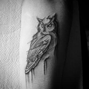 Tiny owl #owl #owltattoo #tattoo #tattoos #tattoo_art_worldwide #polishtattoo #arm #sketchstyle #sketchstyletattoo