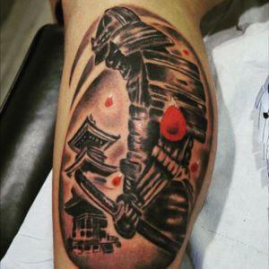 #realism #japanese #Tattoodo #ink #creative #samurai #tatuaggio #realistic #power #legtattoos