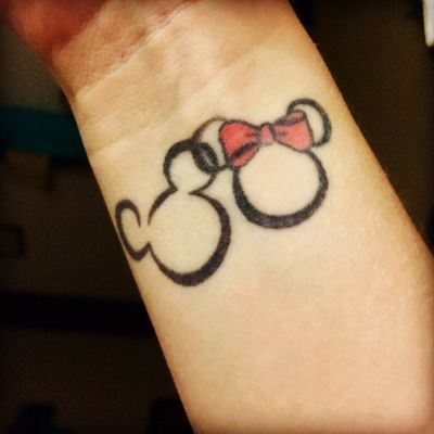 Mickey and Minnie Mouse #disneytattoo #disney #MickeyMouse #minniemouse