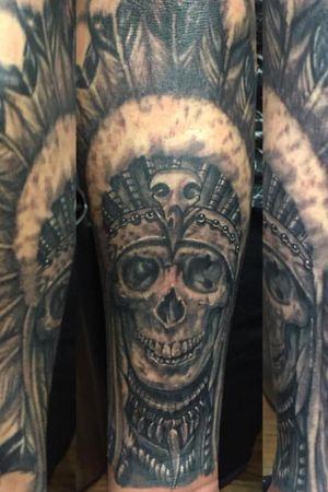 #skull #realism #native #blackandgrey