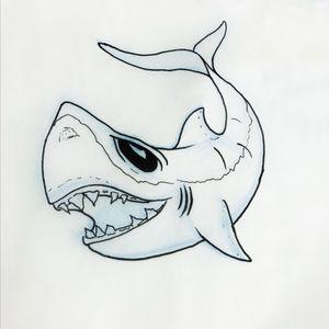 One of my #sharkweek #flash #shark #linedrawing #nola #neworleans