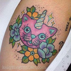 Unicorn Cat tattoo #Unicorn #Cat