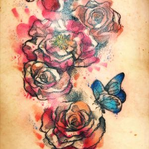 #EmmaBelle  #rosetatattoo #butterflytattoos