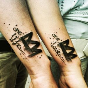 #unclepaulknows#hisandhers #couplestattoo #quote #words