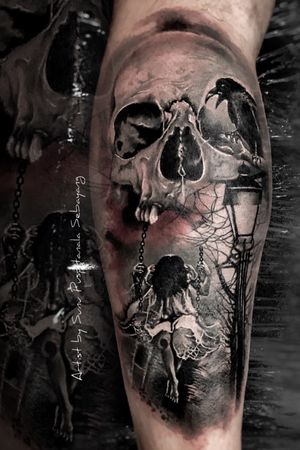 The darkside tattoo realism and realistic