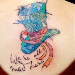 #aliceinwonderland #madhatter #watercolor #quote #allmadhere