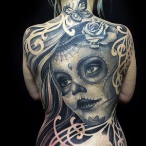 Tattoo by Matt C Ellis #dayofthedead #dayofthedeadgirl #bng #bngtattoo #blackandgray #blackandgraytattoo #blackandgrey #blackandgreytattoo #dayofthedead #backtattoo #fullbacktattoo #mattellis #mattcellis #artist #tattoo #tattoos #tat #tats #tatts #tatted #tattedup #tattoist #tattooed #tattoooftheday #inked #inkedup #ink #tattoooftheday #amazingink #bodyart #LarkTattoo #LarkTattooWestbury #NY #BestOfLongIsland #VotedBestOfLongIsland #BestOfNYC #VotedBestOfNYC #VotedNumber1 #LongIsland #LongIslandNY #NewYork #NYC #TattoosEvenMomWouldLove #NassauCounty
