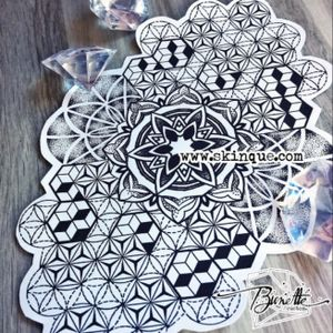 For downloads and commission visit Www.skinque.com Geometric/pattern mandala sleeve #mandala #geometric #geometry #geometrictattoo #mandalatattoo #mandalastyle #mandalaart #sleeve #patternwork #pattern #patterntattoo #blackandgrey #blackwork