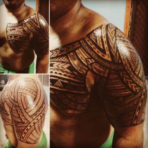 All freehand samoan tattoo #samoan #freehand #tatau #tatausamoa #1sttattoo