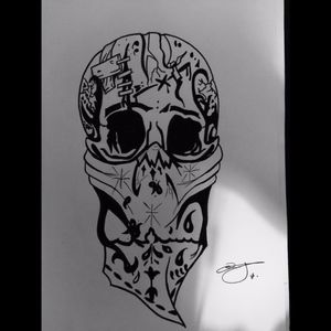 FREEHAND SKULL #skull #skulltattoo #blackAndWhite