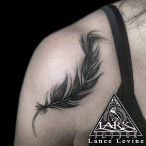 Tattoo by Lark Tattoo @larktattoo artist Lance Levine #feather #feathertattoo #bng #bngtattoo #blackandgrey #blackandgreytattoo #blackandgray #blackandgraytattoo #femaletattoo #tattooedfemale #tattoo #tattoos #tat #tats #tatts #tatted #tattedup #tattoist #tattooed #tattoooftheday #inked #inkedup #ink #tattoooftheday #amazingink #bodyart #tattooig #tattoosofinstagram #instatats #larktattoo