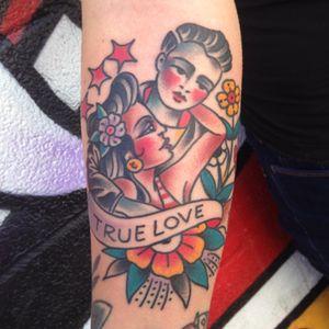 #tattoo done at #queenstrrettattoo #hawaii #love #traditional