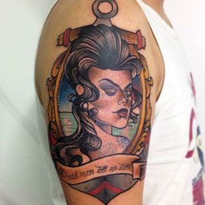 #pinup #neotraditional #anchor #ladytattooer
