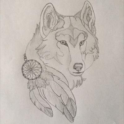 #Wolf #Dreamcatcher #native