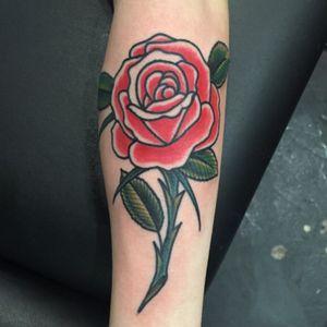 Red Rose #tattoosbyrodrigocanteras #lovehatenewyork #rose