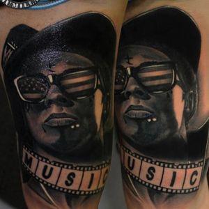 Lil Wayne by Jumilla#kwadron #vikingink #amtattoosuplies #tinta #ink #tattoo #tattoos #tatuage #tatuaje #tattooart #tattoolife #tattooartist #tattoomagazine #thebesttattooartists #thebestspaintattooartist #bodyart #blackandgrey #blancoynegro #realistic #jumilla #valencia #spain #quartdepoblet