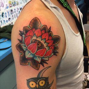 Lotus flower #lotus #lotusflower #lotustattoo #traditional #traditionallotus #traditionalflower #enlightenment
