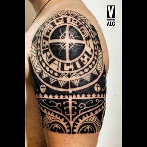 #maori #maoristyle #tattoo #tattooart #tattooartist #brazo #hombro #upperarm #shoulde #Colombiatattoo #colombian