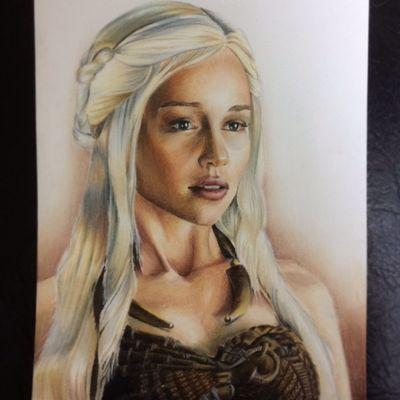 #emiliaclarkе #gameofthrones #drawing #sketch #pencils #pencilcolor #art #daenerys #daenerysstormborn #got