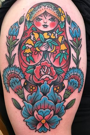 #traditional #BoldTattoos #color @100candlestattoo
