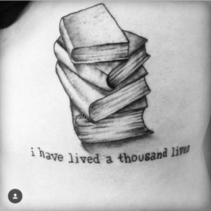 I have lived a thousand lives #text #books #linework #shading #typewriter #typewriterfont #quote