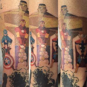 #avengers #hulk #captainamerica #ironman #superhero #superheroes #SuperheroTattoos