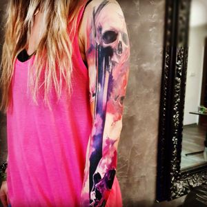 #AdamKremer #sleeve #skull #abstract