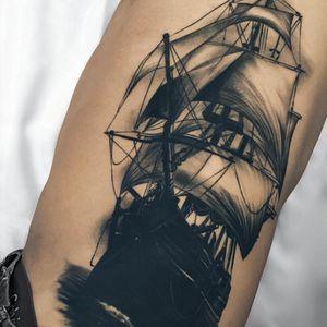Artist #fibs #ship #ocean #pirateship #sketchtattoo
