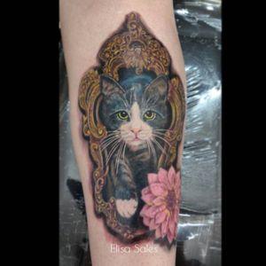 #tattoocuritiba #curitibatattoo #tatuadora #novatattooelisa #cattattoo #tattoo #ElisaSales