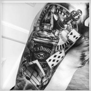 #sinnersink #casino #gambling #cards #dice #jackdaniels #music sleeve