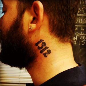 #tattoo #neck #1312 #acab