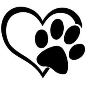 Dog of 17 years paw print.
