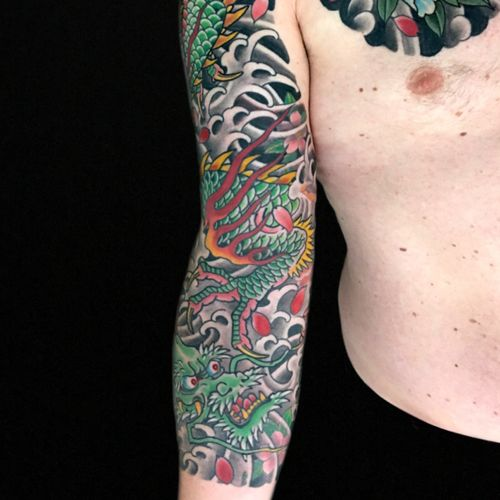 Part of a Dragon sleeve ,some fresh , some healed . Thanks for looking. @royaltattoo #royalink #royaltattoo #tattooed #royaltattooDK #tattoo #tattoos #thedane #tattooing #tradtionaltattoo #helsingør #copenhagen #københavn #danmark #denmark #tattooartist #tattoopage #tatuagem #tatouage #besttattoos #toptattoos #tattooart #ink  #japanesetattoo #japanesetattoos #tradtionaljapanesetattoo #customtattoos #qualitytattoo #tattoodo
