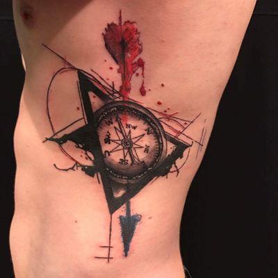 #blackandgrey #compasstattoo #compass #arrowtattoo #arrow #compassarrow #triangle