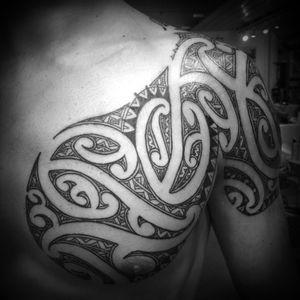 Ta moko shoulder to chest #tamoko #maori #maoriculture #moko #tattoo #mokomaori